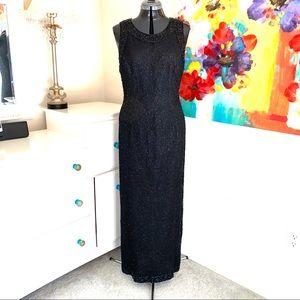 Vintage Laurence Kazar Full Length Beaded Gown